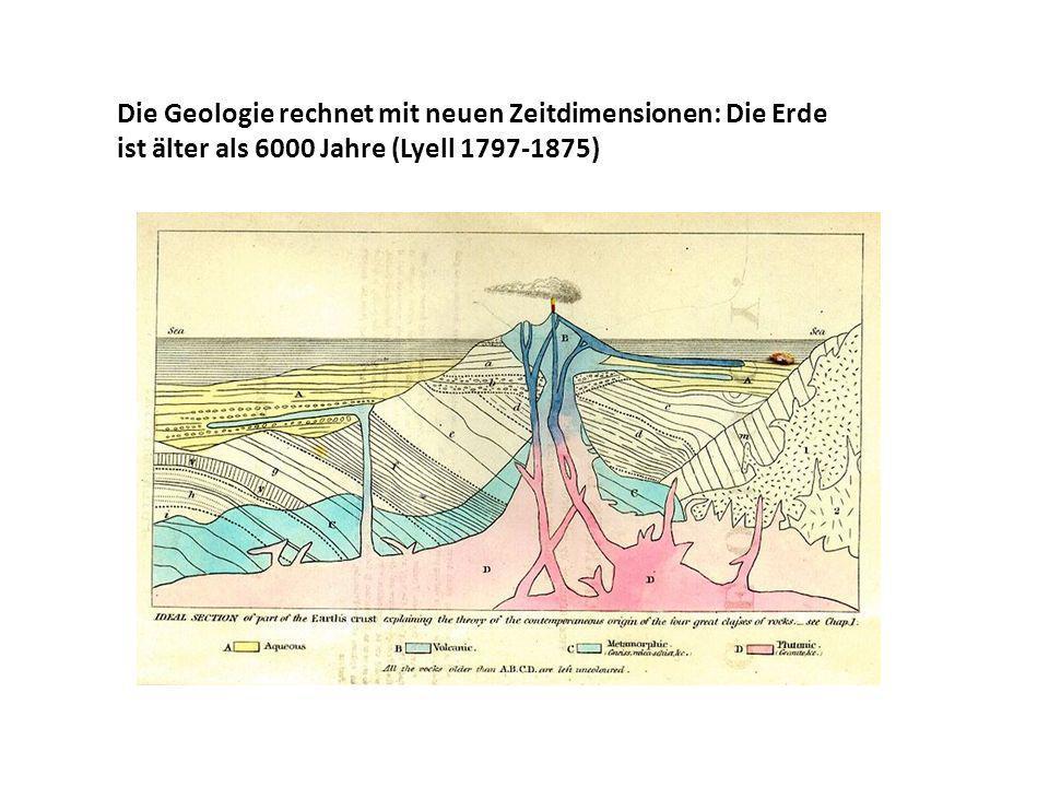 Die Geologie rechnet mit neuen Zeitdimensionen: Die Erde ist älter als 6000 Jahre (Lyell 1797-1875)