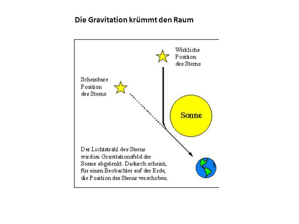 Die Gravitation krümmt den Raum