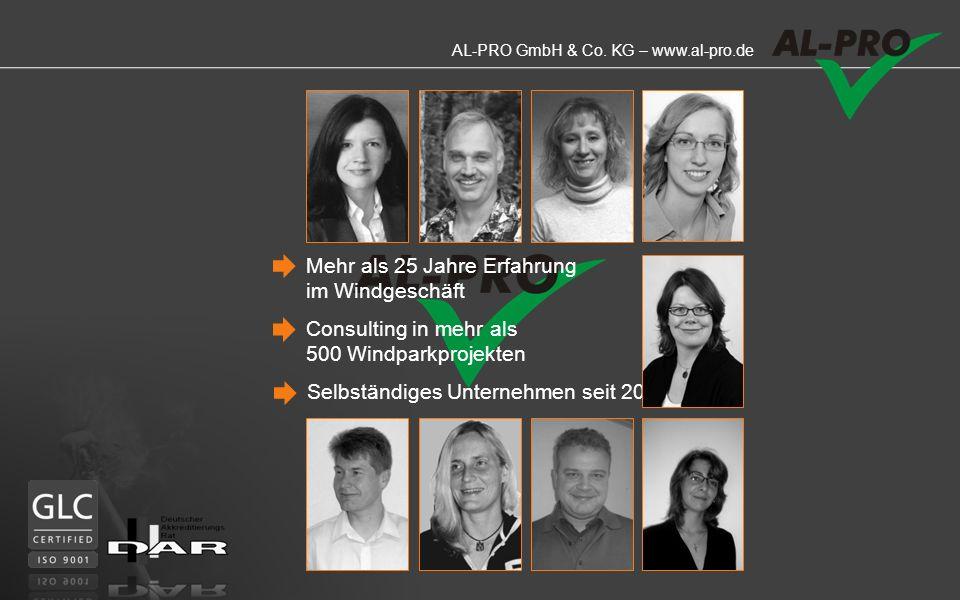 AL-PRO GmbH & Co. KG – www.al-pro.de BEEINFLUSSEN KÖNNEN WIR DEN WIND AUCH NICHT ABER WIR WISSEN ALLES ÜBER IHN