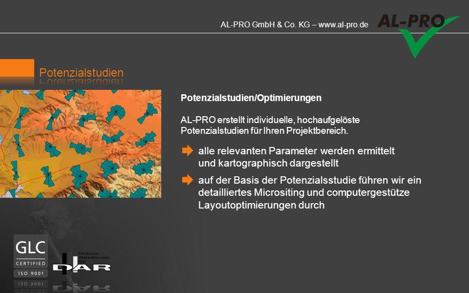 AL-PRO GmbH & Co. KG – www.al-pro.de Ein digitales dreidimensionales Geländemodell dient als Basis für die Berechnung der Windverhältnisse. AL-Pro nut
