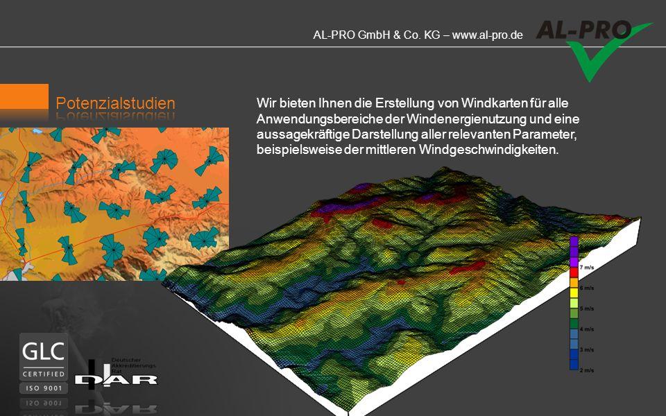 AL-PRO GmbH & Co. KG – www.al-pro.de Potenzialstudien/Optimierungen AL-PRO erstellt individuelle, hochaufgelöste Potenzialstudien für Ihren Projektber