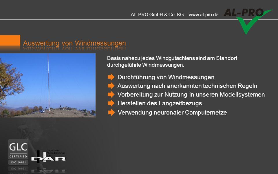 AL-PRO GmbH & Co. KG – www.al-pro.de AL-PRO ermittelt die IEC-relevanten und teilweise weit darüber hinausgehende Parameter zur Beurteilung eines Stan