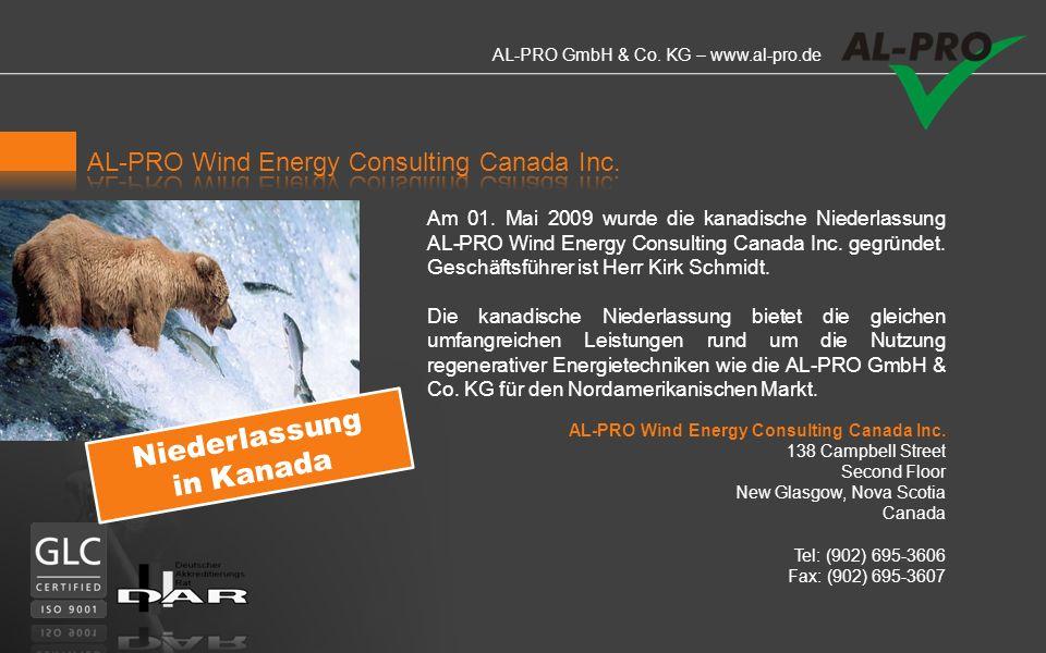 AL-PRO GmbH & Co.KG – www.al-pro.de Am 01.