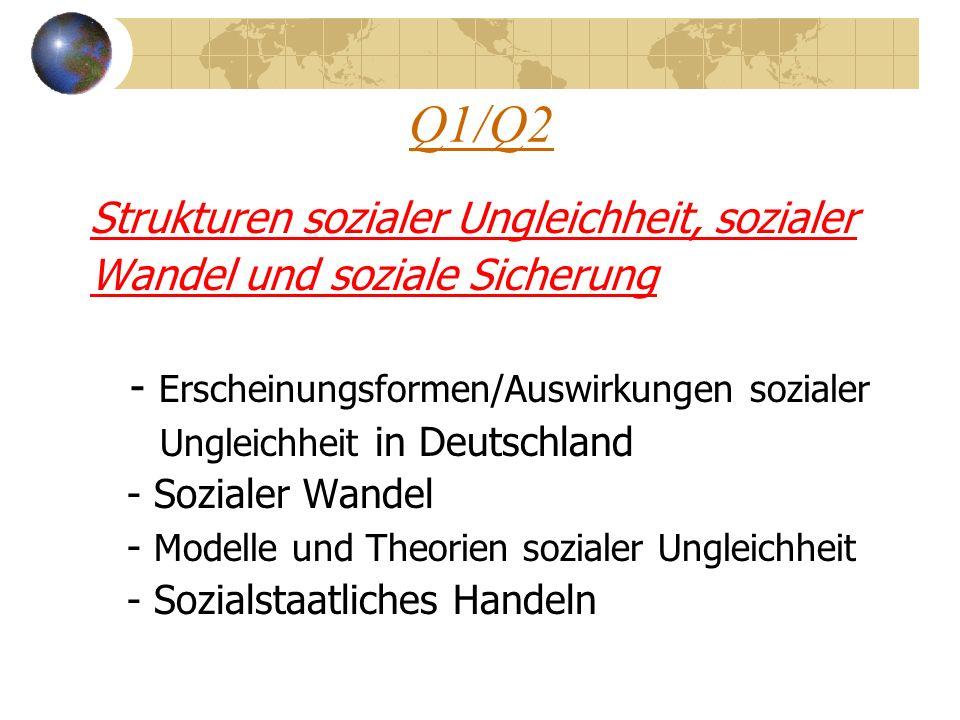 Q1/Q2 Strukturen sozialer Ungleichheit, sozialer Wandel und soziale Sicherung - Erscheinungsformen/Auswirkungen sozialer Ungleichheit in Deutschland -