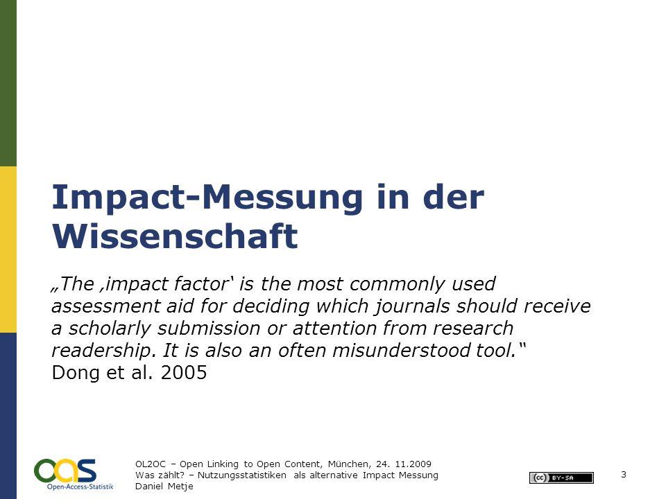 24 Integration in GoeScholar OL2OC – Open Linking to Open Content, München, 24.