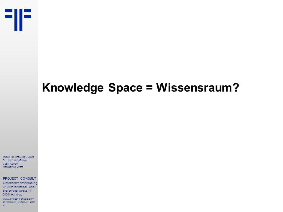24 Intranet als Knowledge Space Dr.