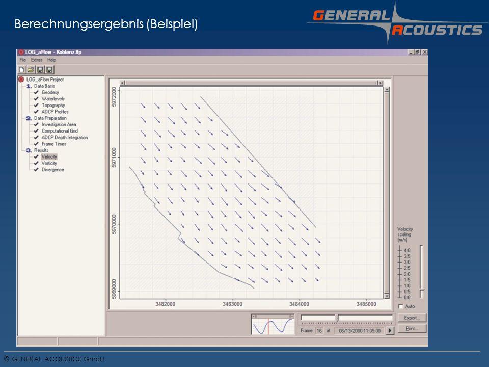 GENERAL ACOUSTICS GmbH © Berechnungsergebnis (Beispiel)
