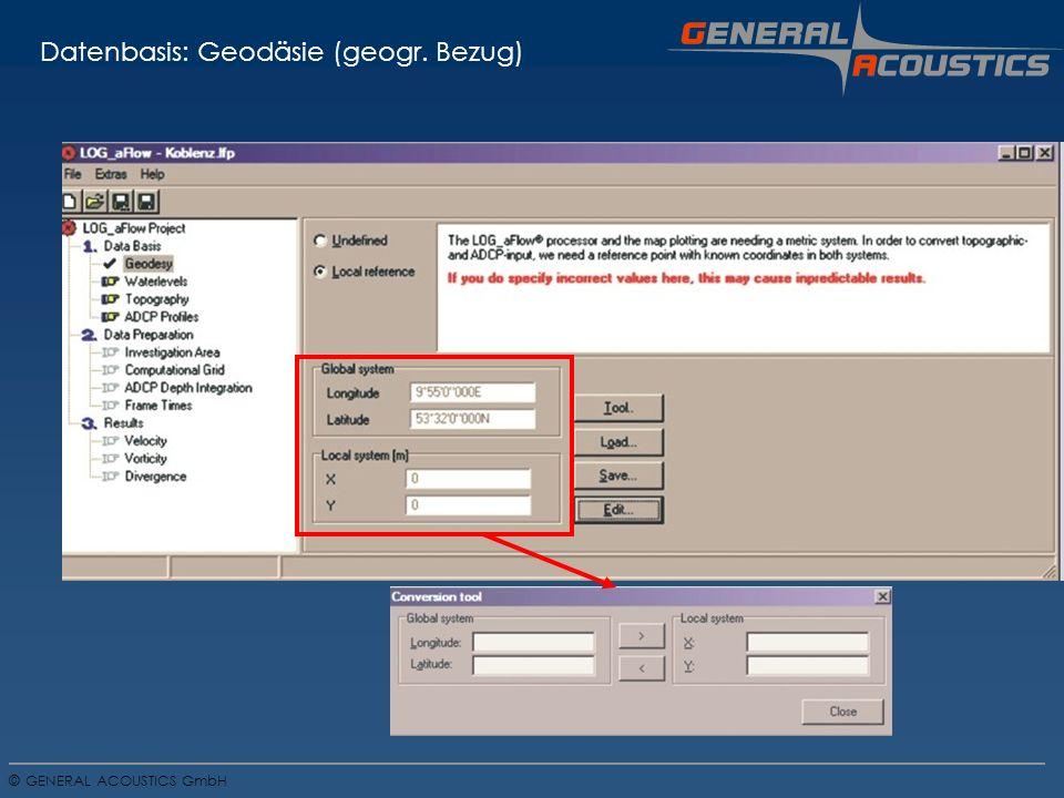 GENERAL ACOUSTICS GmbH © Datenbasis: Pegelverlauf (zeitlicher Bezug)