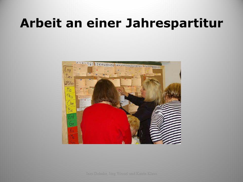 Arbeit an einer Jahrespartitur Ines Dohnke, Jörg Wessel und Katrin Klaus