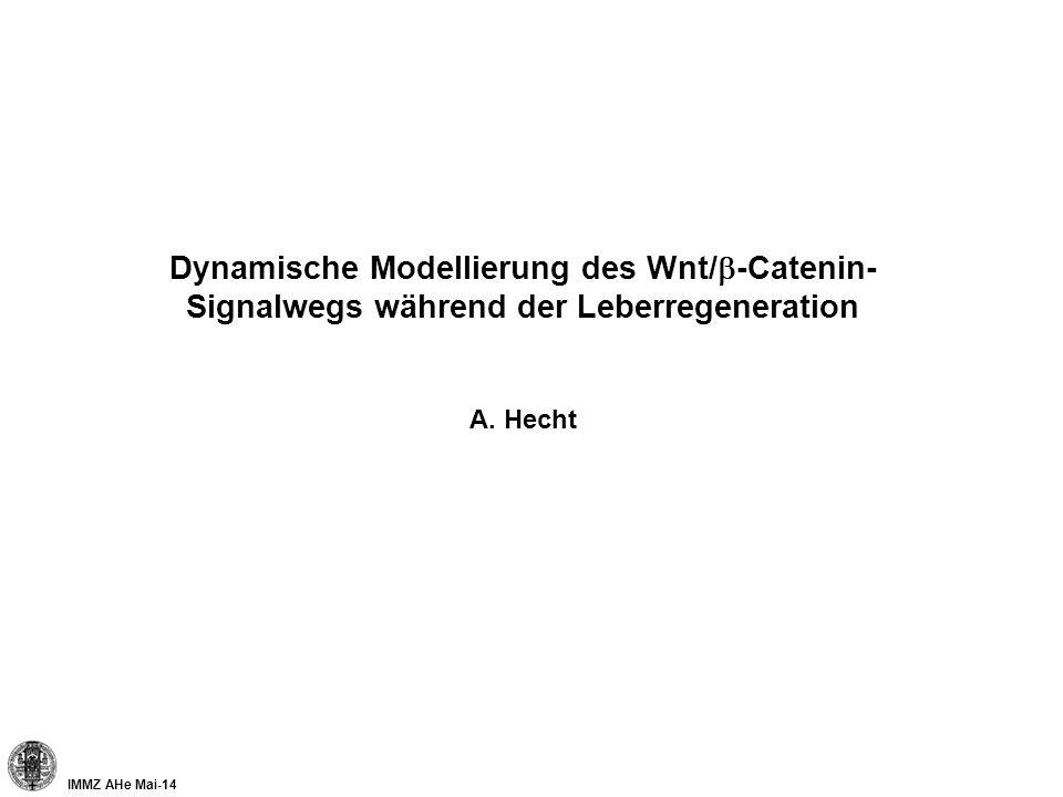 IMMZ AHe Mai-14 Dynamische Modellierung des Wnt/ -Catenin- Signalwegs während der Leberregeneration A. Hecht