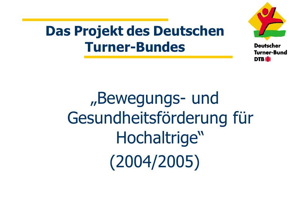 Das Projekt des Deutschen Turner-Bundes Bewegungs- und Gesundheitsförderung für Hochaltrige (2004/2005)