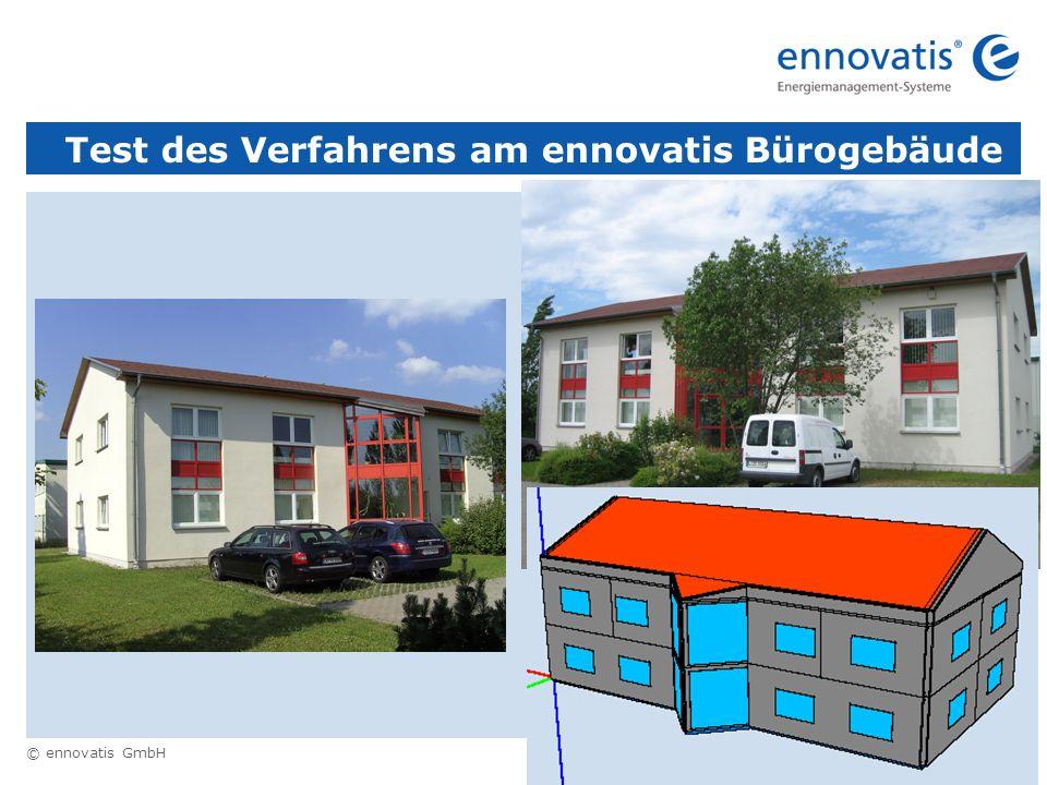 © ennovatis GmbH 11 Test des Verfahrens am ennovatis Bürogebäude
