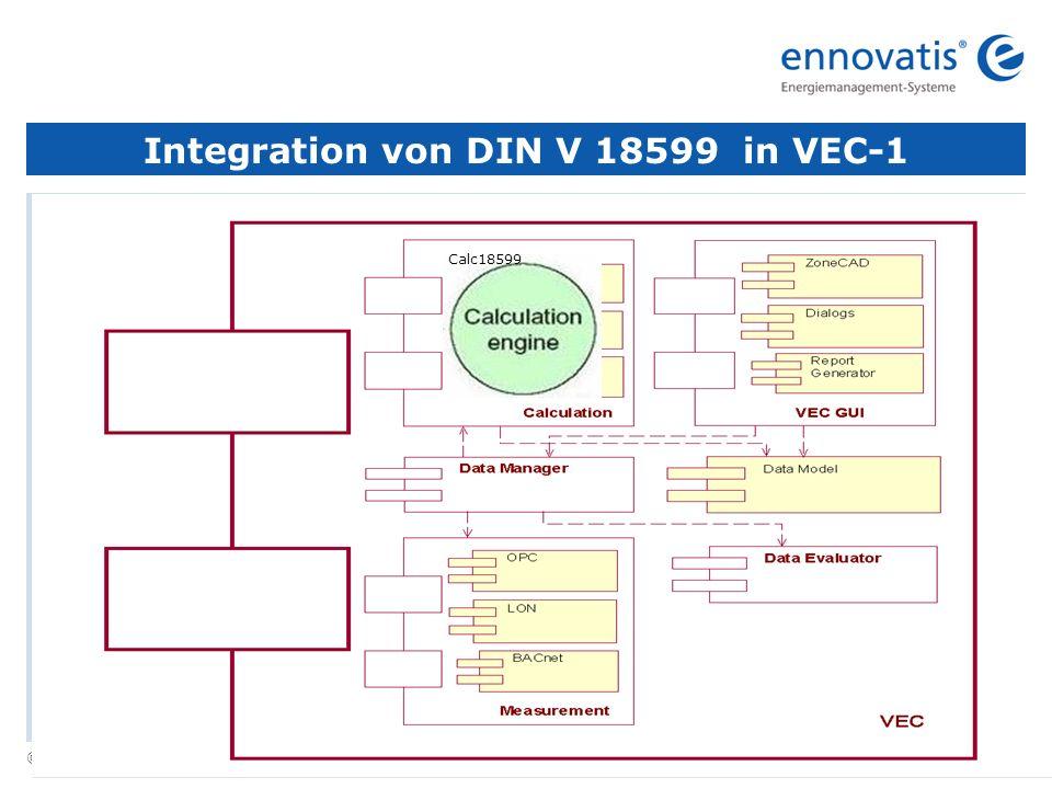 © ennovatis GmbH 6 Integration von DIN V 18599 in VEC-1 Calc18599