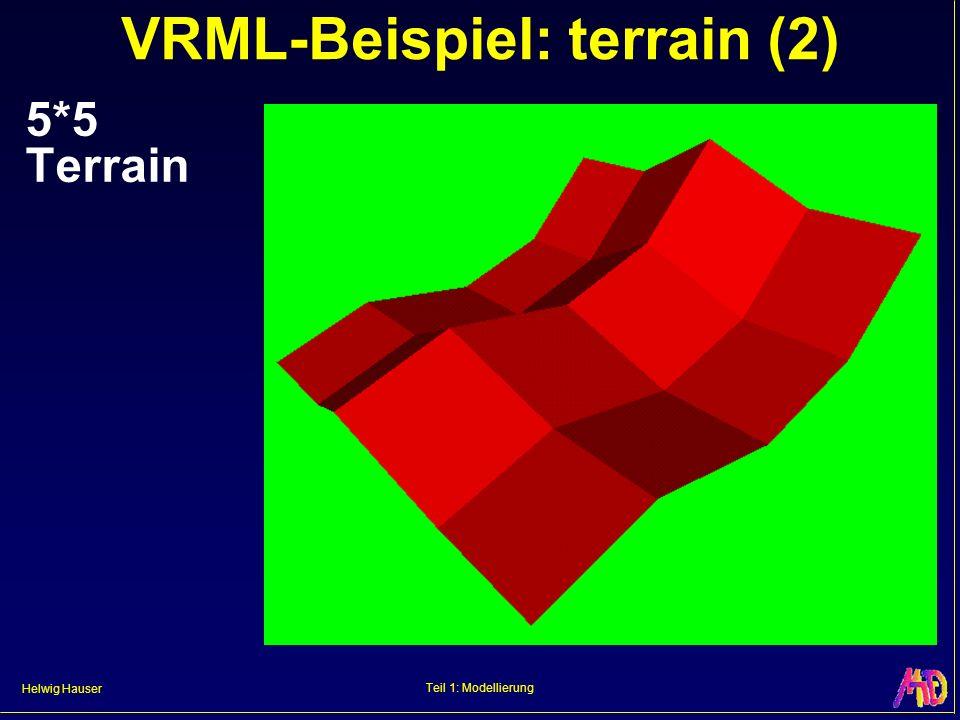 Helwig Hauser Teil 1: Modellierung VRML-Beispiel: terrain (2) 5*5 Terrain