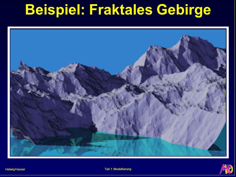 Helwig Hauser Teil 1: Modellierung Beispiel: Fraktales Gebirge