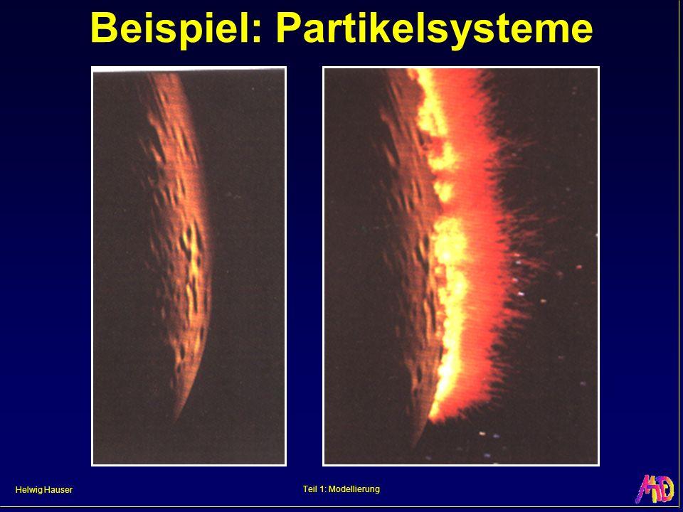 Helwig Hauser Teil 1: Modellierung Beispiel: Partikelsysteme