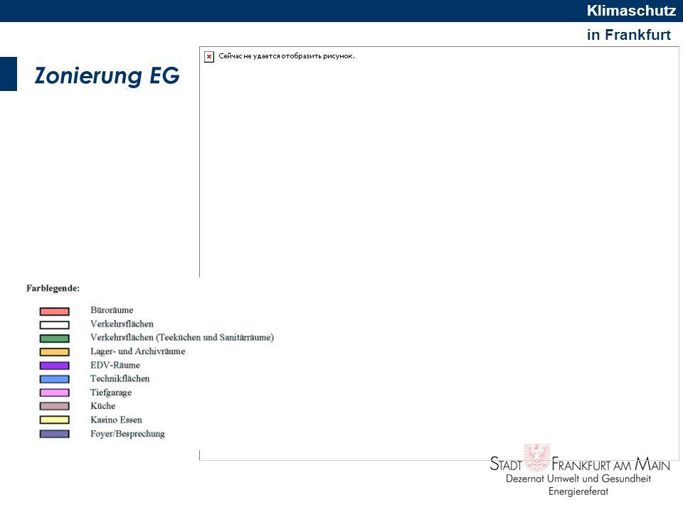 in Frankfurt Klimaschutz Darstellung des Energieausweises NWG Energieausweise - enthalten Aussagen zum Wärmeverbrauch - enthalten Aussagen zum Stromverbrauch für Beleuchtung, Lüftung, Kühlung - müssen Vergleichswerte enthalten - müssen gebäudespezifische Optimierungsvorschläge enthalten Quelle: dena/BMVBS