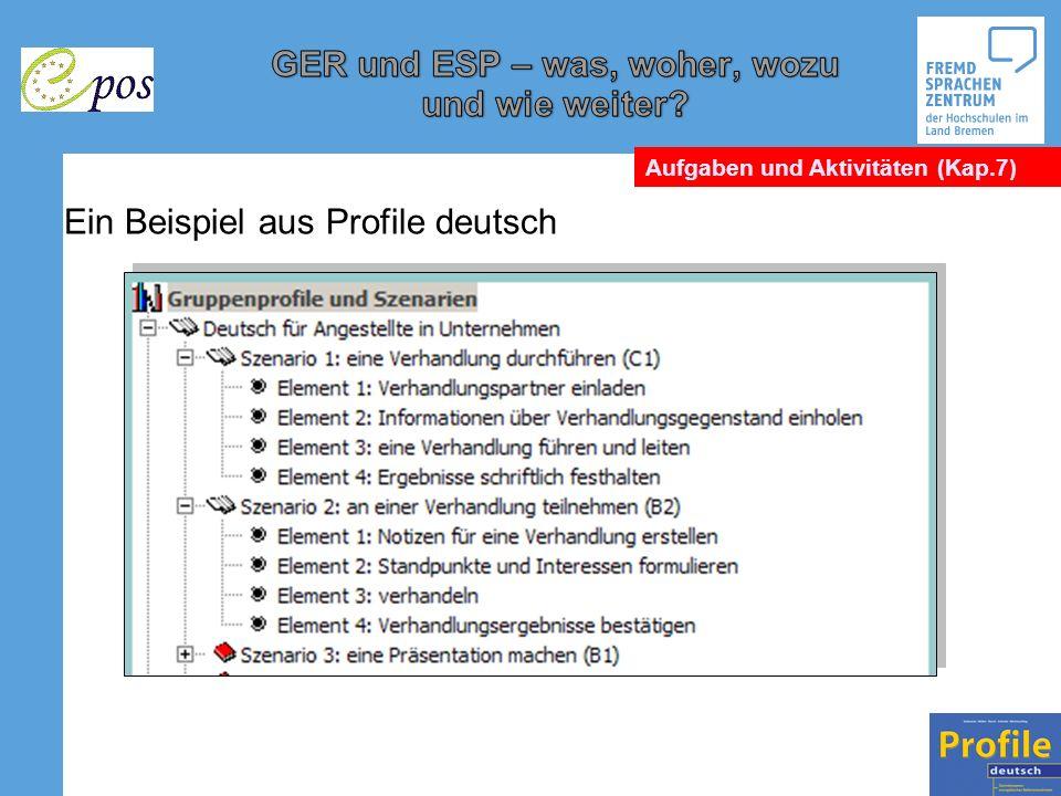 Ein Beispiel aus Profile deutsch Aufgaben und Aktivitäten (Kap.7)