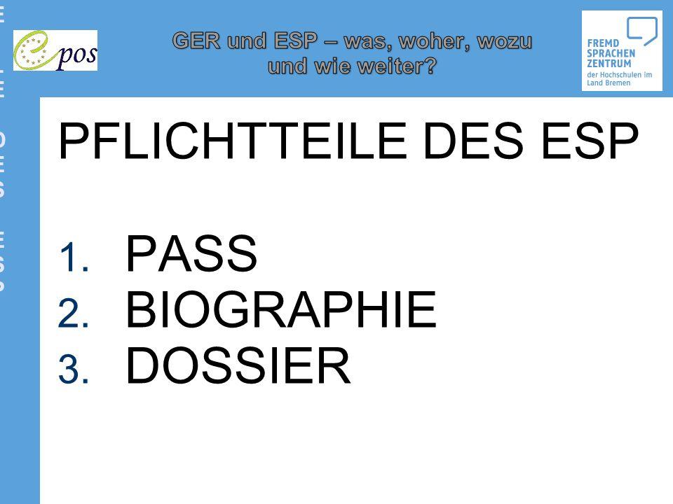 PFLICHTTEILE DES ESPPFLICHTTEILE DES ESP PFLICHTTEILE DES ESP 1. PASS 2. BIOGRAPHIE 3. DOSSIER