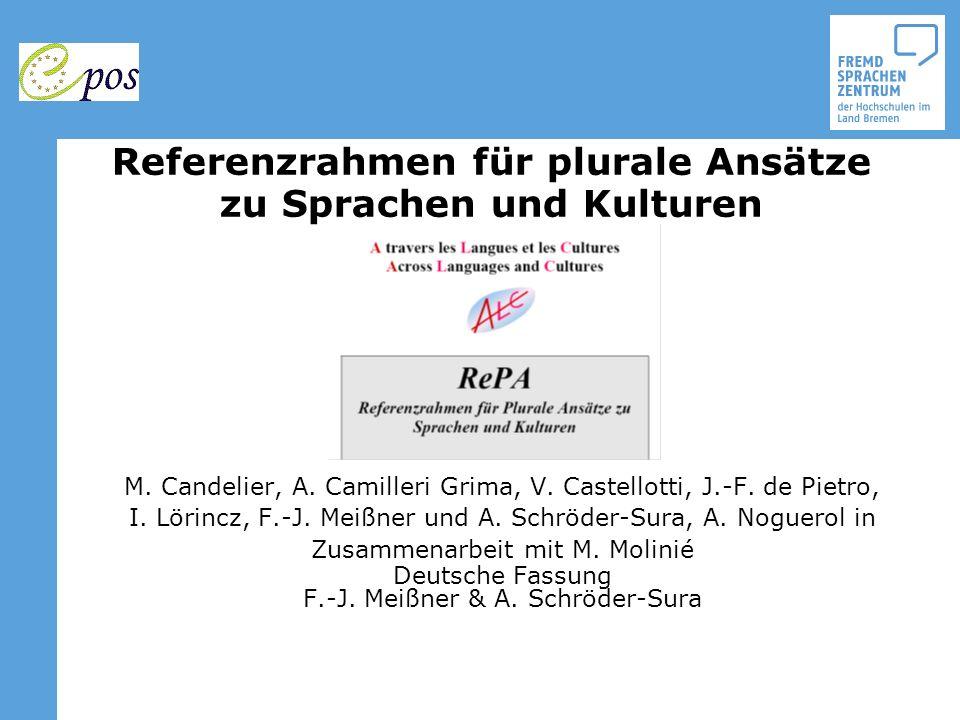 Referenzrahmen für plurale Ansätze zu Sprachen und Kulturen M. Candelier, A. Camilleri Grima, V. Castellotti, J.-F. de Pietro, I. Lörincz, F.-J. Meißn