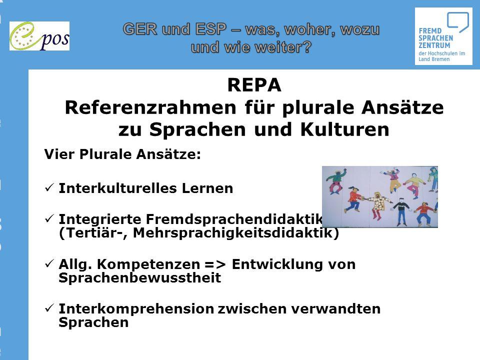 Referenzrahmen für plurale Ansätze zu Sprachen und KulturenReferenzrahmen für plurale Ansätze zu Sprachen und Kulturen Vier Plurale Ansätze: Interkult