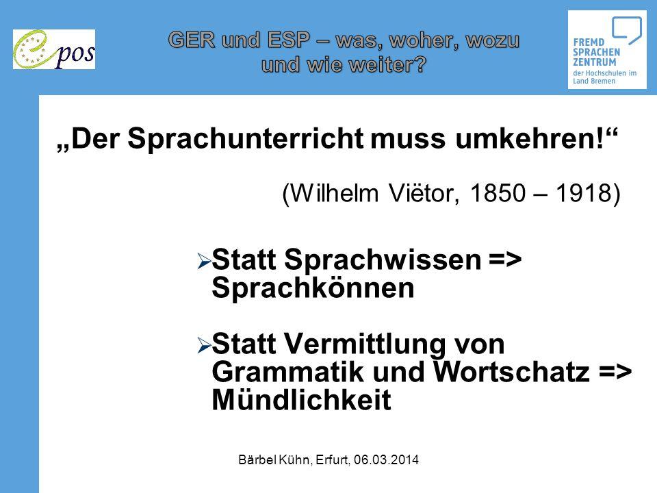 David Littles Autonomiebegriff: Lernerautonomie (David Little, 1991): o The learners capacity – for detachment, critical reflection, decision-making and independent action Bärbel Kühn, Erfurt, 06.03.