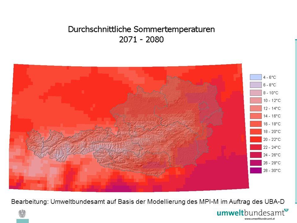 08.04.2005 | Folie 20 Bearbeitung: Umweltbundesamt auf Basis der Modellierung des MPI-M im Auftrag des UBA-D