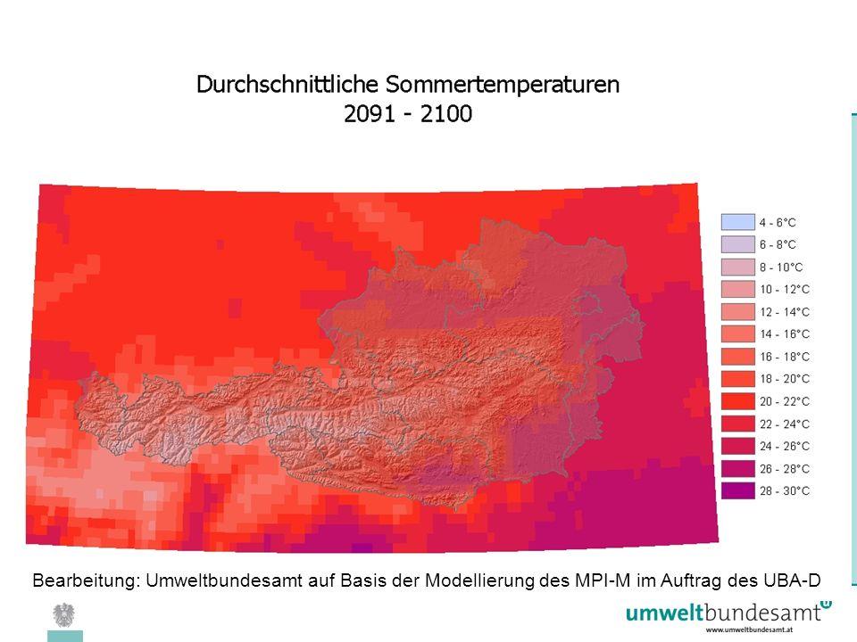 08.04.2005 | Folie 22 Bearbeitung: Umweltbundesamt auf Basis der Modellierung des MPI-M im Auftrag des UBA-D