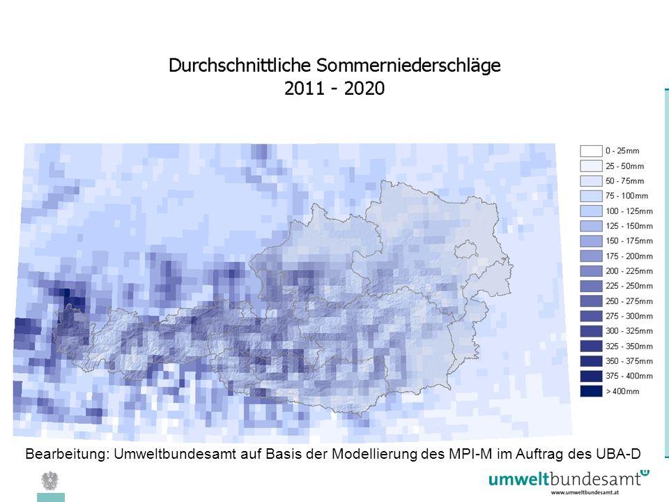 08.04.2005 | Folie 25 Bearbeitung: Umweltbundesamt auf Basis der Modellierung des MPI-M im Auftrag des UBA-D