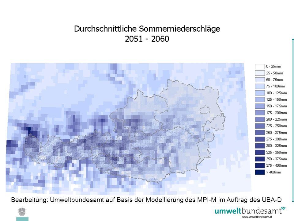 08.04.2005 | Folie 29 Bearbeitung: Umweltbundesamt auf Basis der Modellierung des MPI-M im Auftrag des UBA-D