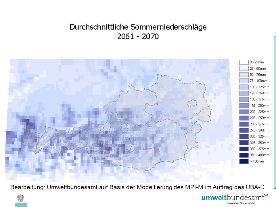 08.04.2005 | Folie 30 Bearbeitung: Umweltbundesamt auf Basis der Modellierung des MPI-M im Auftrag des UBA-D