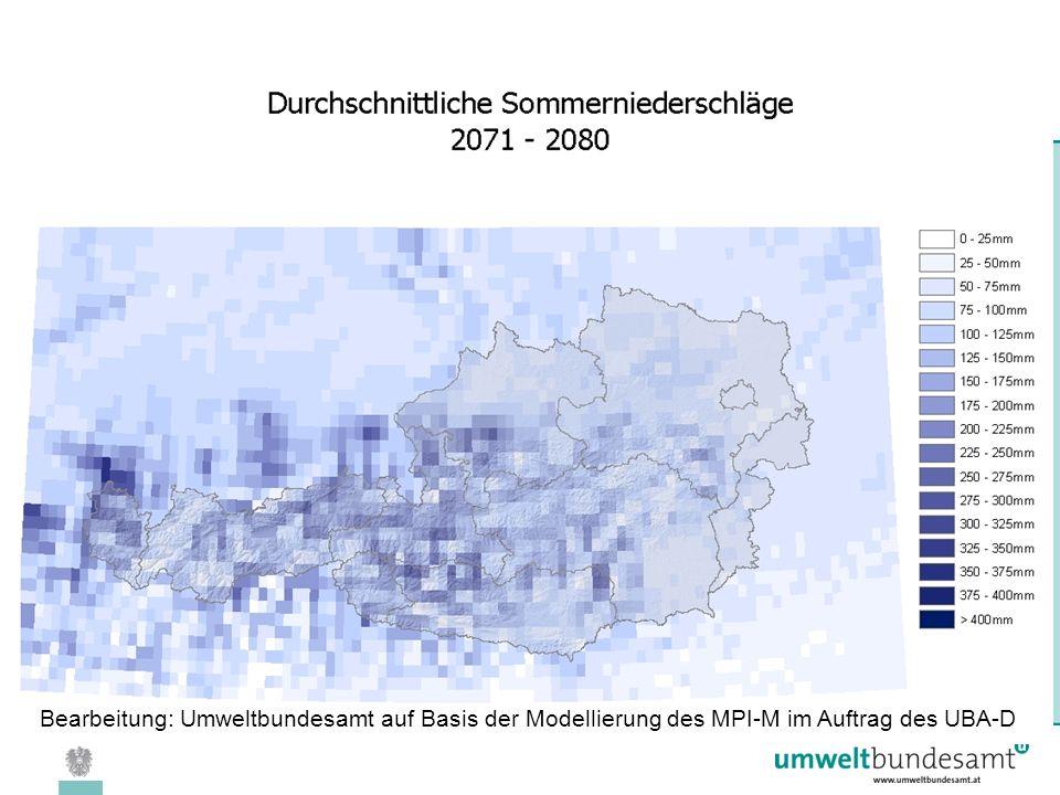 08.04.2005 | Folie 31 Bearbeitung: Umweltbundesamt auf Basis der Modellierung des MPI-M im Auftrag des UBA-D