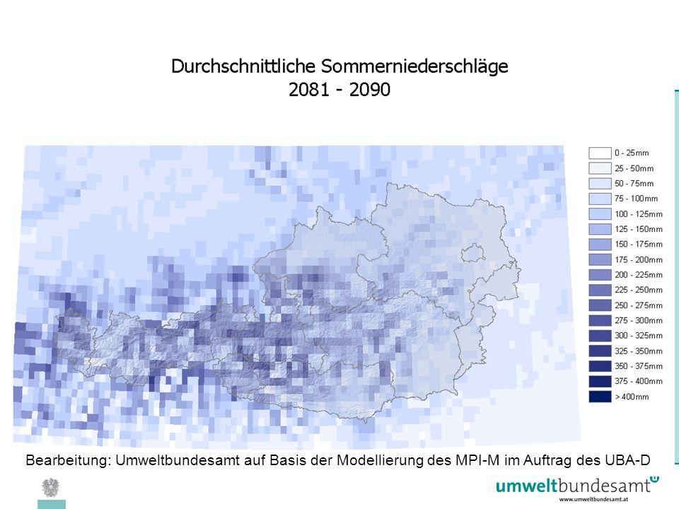 08.04.2005 | Folie 32 Bearbeitung: Umweltbundesamt auf Basis der Modellierung des MPI-M im Auftrag des UBA-D
