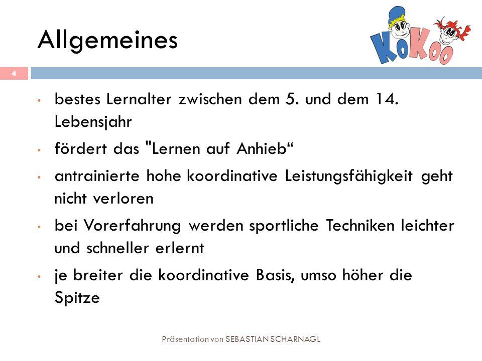 Allgemeines Präsentation von SEBASTIAN SCHARNAGL 4 bestes Lernalter zwischen dem 5. und dem 14. Lebensjahr fördert das