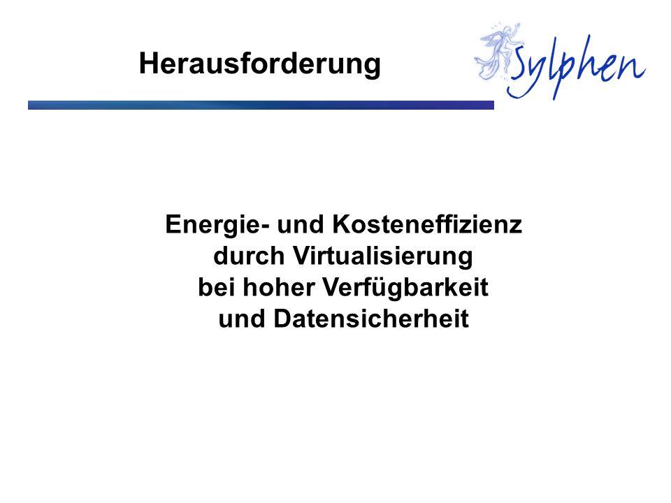 Herausforderung Energie- und Kosteneffizienz durch Virtualisierung bei hoher Verfügbarkeit und Datensicherheit