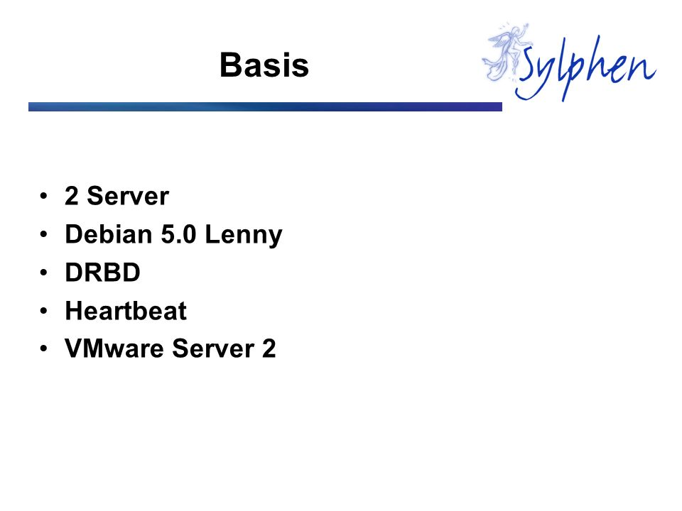 Basis 2 Server Debian 5.0 Lenny DRBD Heartbeat VMware Server 2