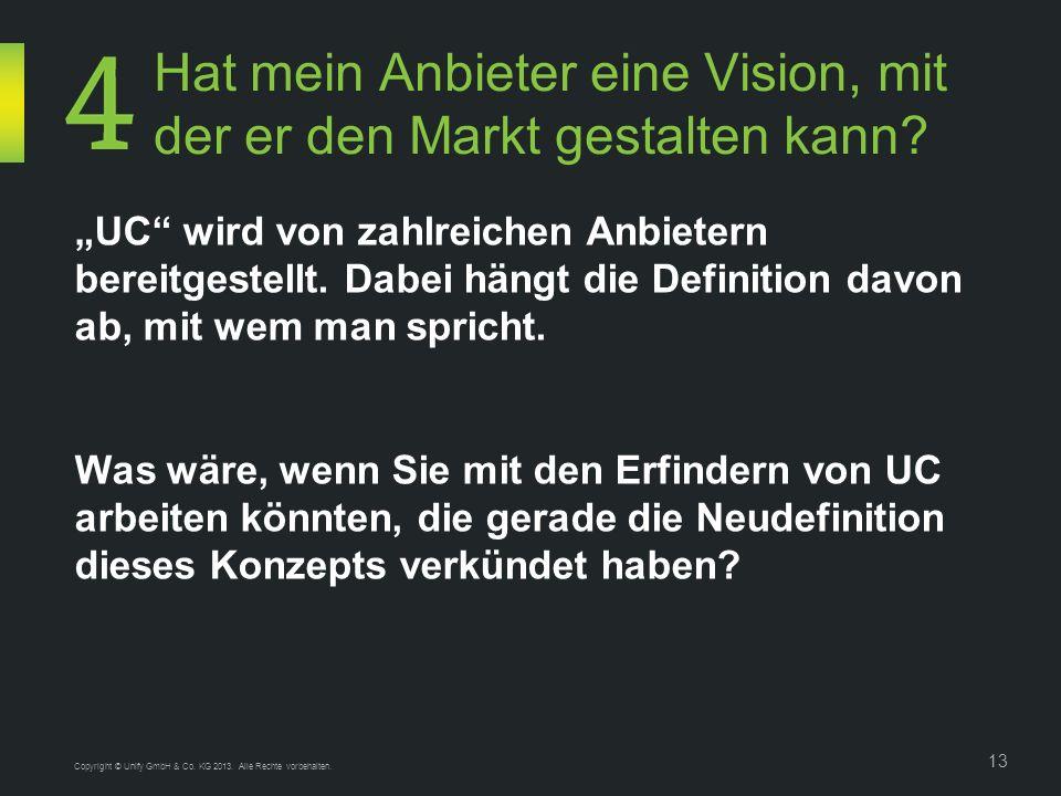 Hat mein Anbieter eine Vision, mit der er den Markt gestalten kann.