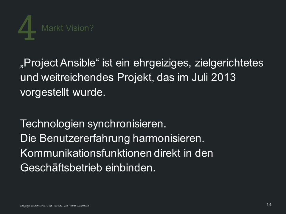 14 Project Ansible ist ein ehrgeiziges, zielgerichtetes und weitreichendes Projekt, das im Juli 2013 vorgestellt wurde.