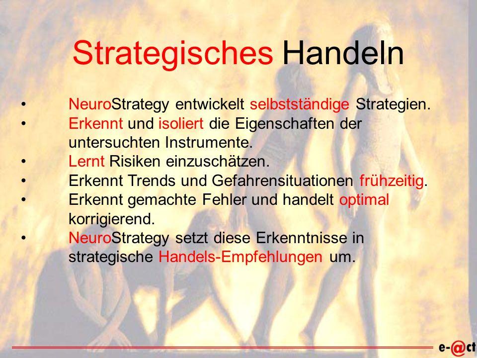 Strategisches Handeln NeuroStrategy entwickelt selbstständige Strategien.