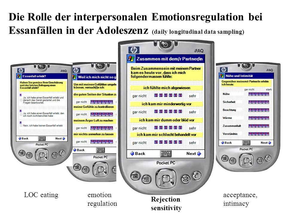 acceptance, intimacy Rejection sensitivity emotion regulation LOC eating Die Rolle der interpersonalen Emotionsregulation bei Essanfällen in der Adole