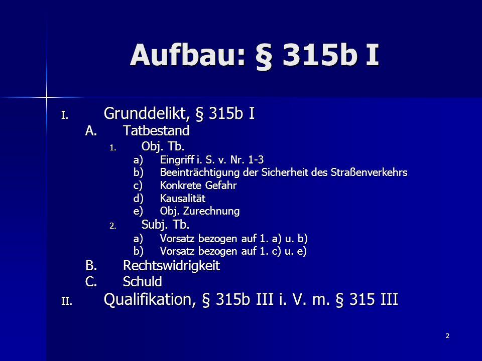 3 Aufbau: § 316a StGB ( 0.§§ 249, 252, 255 StGB) I.