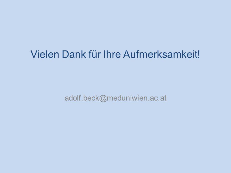Entwicklung der mütterlichen Mortalität in Österreich Vielen Dank für Ihre Aufmerksamkeit! adolf.beck@meduniwien.ac.at