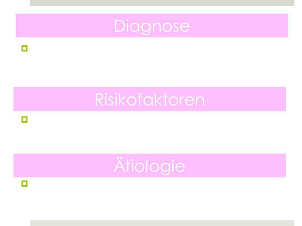 Diagnose Risikofaktoren Ätiologie