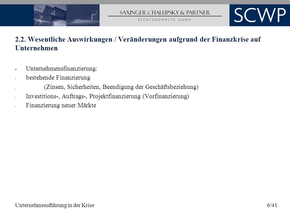 Unternehmensführung in der Krise17/41 3.3.1 Mögliche Innovationscharakteristika Umsatzanteil neuer Produkte am Gesamtumsatz (z.B.
