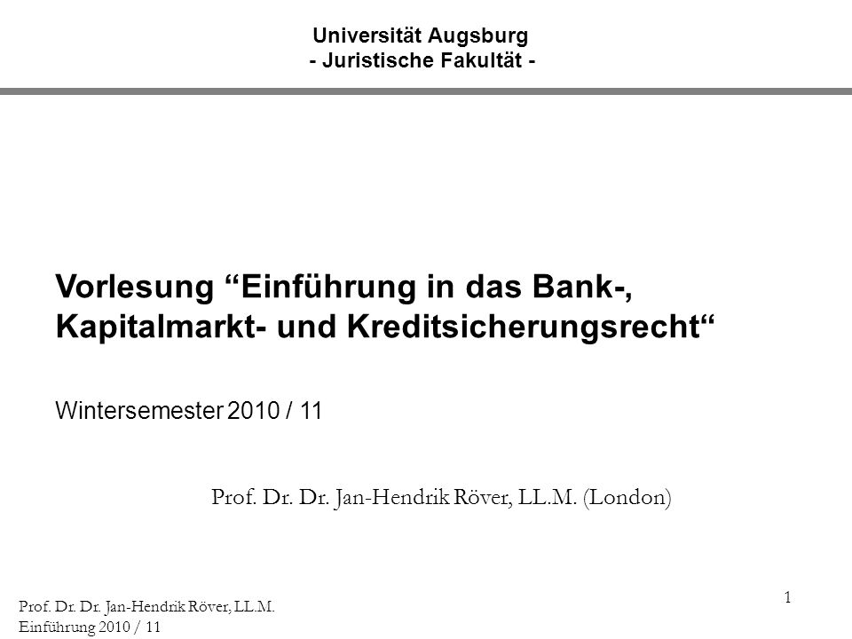 2 Prof.Dr. Dr. Jan-Hendrik Röver, LL.M.