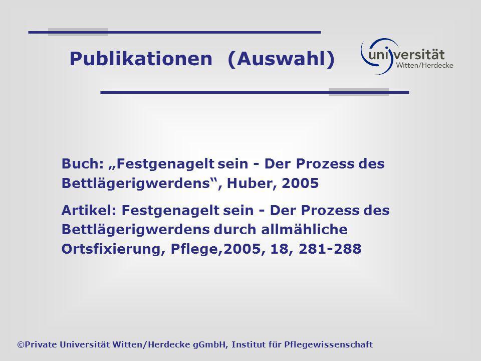 Buch: Festgenagelt sein - Der Prozess des Bettlägerigwerdens, Huber, 2005 Artikel: Festgenagelt sein - Der Prozess des Bettlägerigwerdens durch allmäh