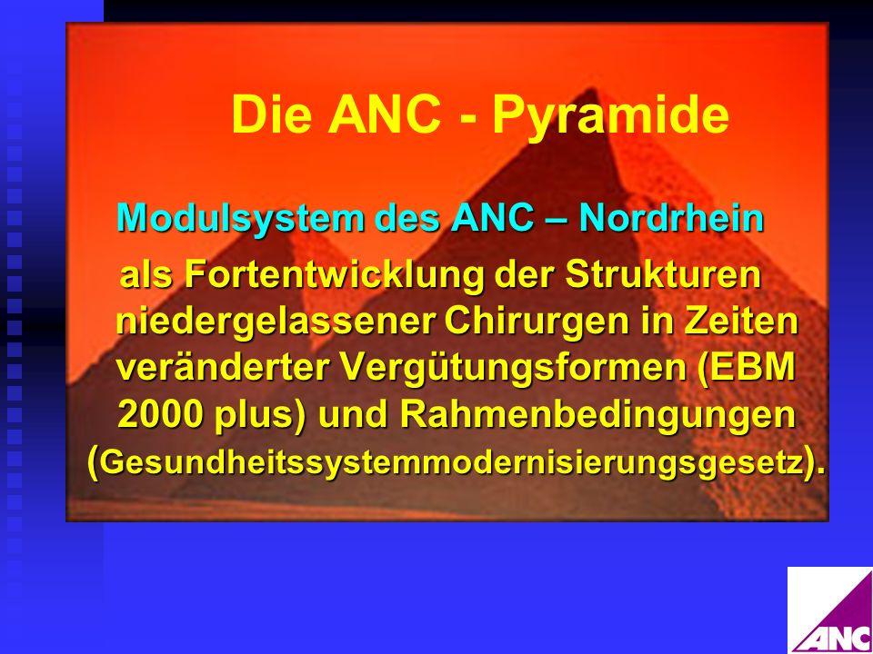Die ANC - Pyramide Modulsystem des ANC – Nordrhein als Fortentwicklung der Strukturen niedergelassener Chirurgen in Zeiten veränderter Vergütungsforme