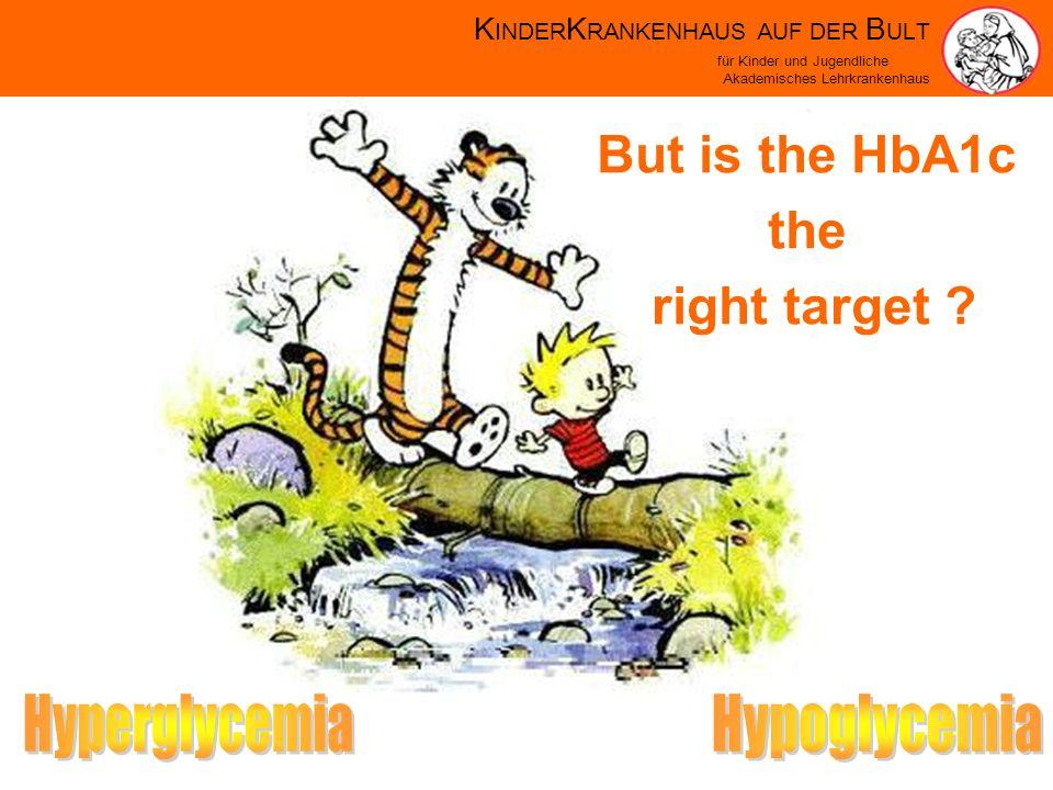 K INDER K RANKENHAUS AUF DER B ULT für Kinder und Jugendliche Akademisches Lehrkrankenhaus But is the HbA1c the right target
