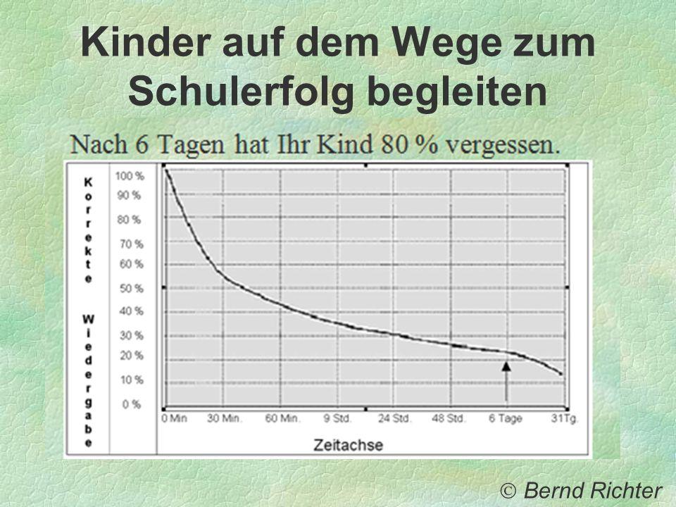 Kinder auf dem Wege zum Schulerfolg begleiten Bernd Richter