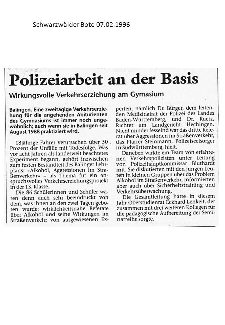 Schwarzwälder Bote 07.02.1996